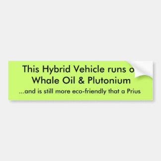 Looppas van dit de Hybride Voertuig op de Olie & P Bumpersticker