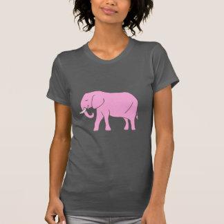 Lopen van de Olifant van het baby het Roze T Shirt