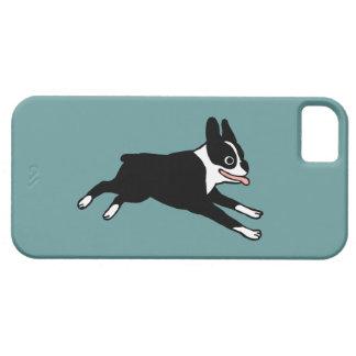 Lopend Boston Terrier - Klantgerichte Kleur Barely There iPhone 5 Hoesje
