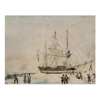 Lopend in het Pak, Ross Expedition, 1842 Briefkaart