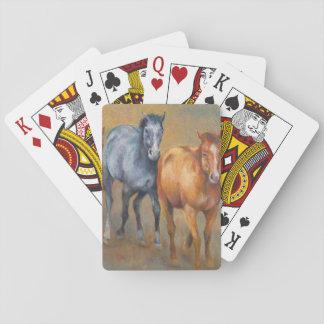 Lopende mustangen speelkaarten