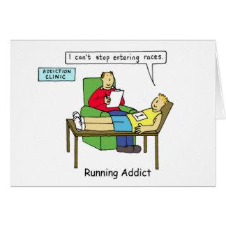 Lopende verslaving, man in therapie briefkaarten 0