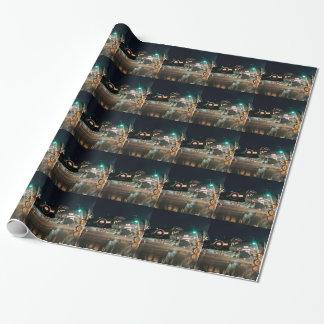 Lopende Zeerover bij Nacht Inpakpapier