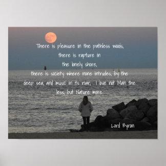 Lord Byron - Citaat - de Druk van de Kunst Poster