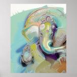 Lord Ganesh Elephant Buddha Afdruk