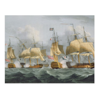 Lord Howe in de Koningin Charlotte, die ONO breken Briefkaart
