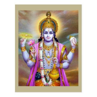 Lord Vishnu Floral Fine Art Briefkaart