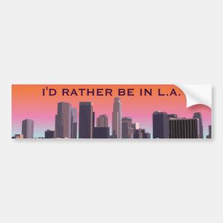 Los Angeles van de binnenstad - Klantgericht Bumpersticker