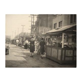 Los de Foto van de Straat Olivera van Californië Hout Afdruk