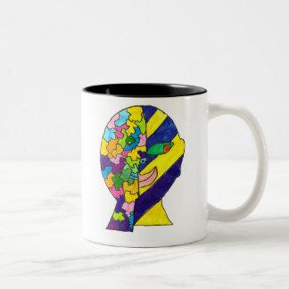 los -los-alenam tweekleurige koffiemok