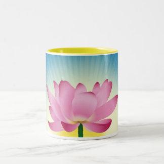 Lotus in Zonsopgang Tweekleurige Koffiemok