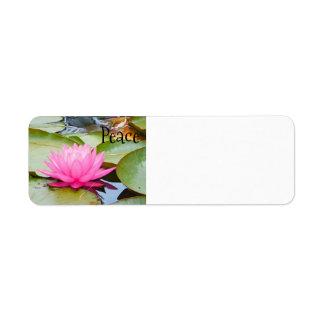 lotusbloem adresetiket retouretiket