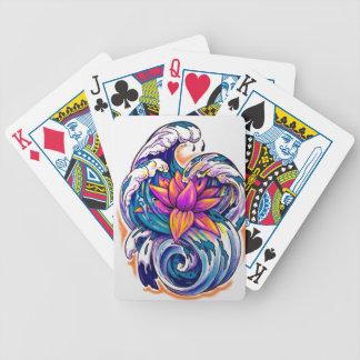 lotusbloem in de golven poker kaarten