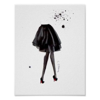 Louboutins in Inkt Poster