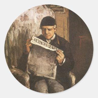 Louis Auguste Cezanne Father Of de Lezing van de Ronde Sticker