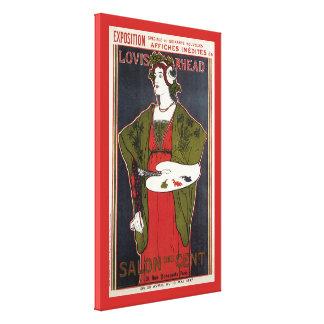 Louis Rhead ~ Salon des Cent Canvas Afdruk