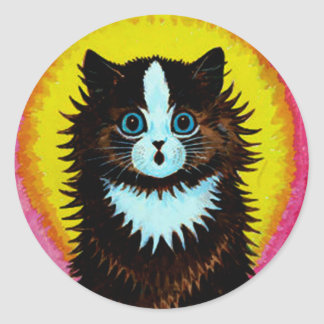 Louis Wain Psychedelic Cat Sticker