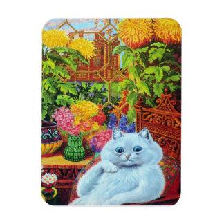 Louis Wain's Witte Kat in de Zaal van de Tuin Magneet