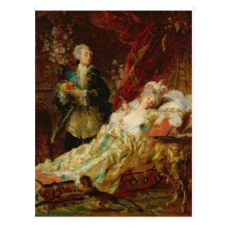 Louis XV en Mevrouw Dubarry Briefkaart