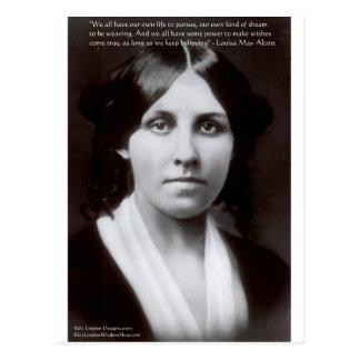 Louisa mag de Giften van het Citaat van Alcott & Briefkaart
