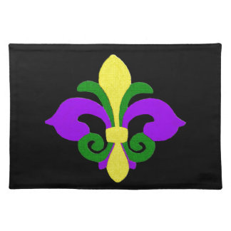 Louisiane Fleur DE lis (Mardi Gras) .jpg Placemat