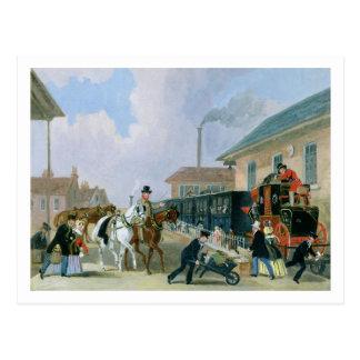 Louth-Londen Royal Mail die door Trein Fr reizen Briefkaart