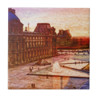 Louvre in Parijs Frankrijk door Shawna MAC Tegeltje