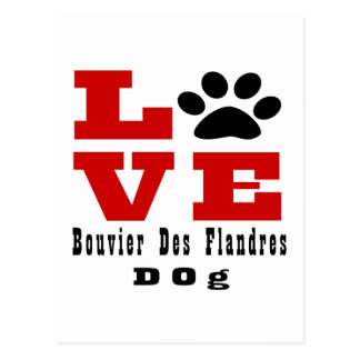 Love Bouvier Des Flandres Dog Designes Briefkaart