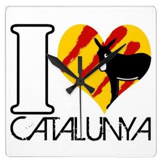 LOVE de klok van keuken vierkant I CATALUNYA