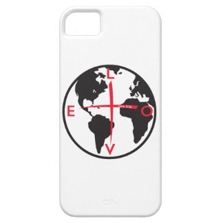 LoveGlobe316 - witte achtergrond Barely There iPhone 5 Hoesje