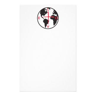 LoveGlobe316 - witte achtergrond Briefpapier