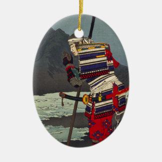 Loyale Samu - Tsukioka Yoshitosh Keramisch Ovaal Ornament