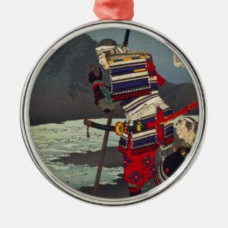 Loyale Samu - Tsukioka Yoshitosh Zilverkleurig Rond Ornament