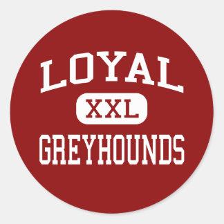 Loyale - Windhonden - Middelbare school - Loyaal W Sticker