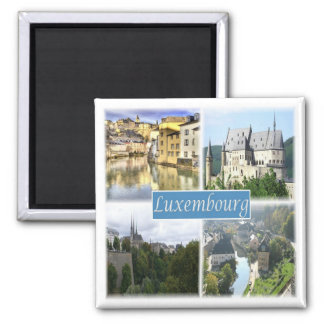LU * Luxemburg Vierkante Magneet