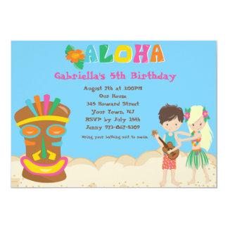Luau met Kind en de Uitnodiging van de Verjaardag