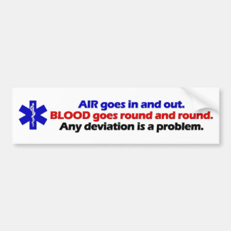 Lucht/Bloed Bumpersticker