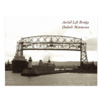 Lucht Lift BridgeDuluth Minnesota Briefkaart