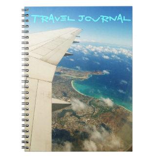 Lucht uitzicht over het Hawaiiaanse dagboek van de Notitieboek