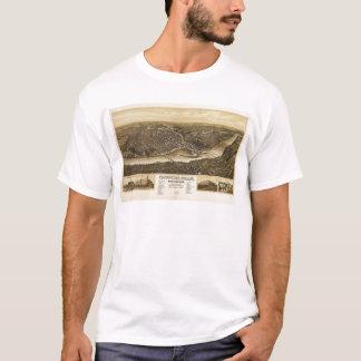 Lucht Uitzicht van Chippewa Herfsten, Wisonsin T Shirt