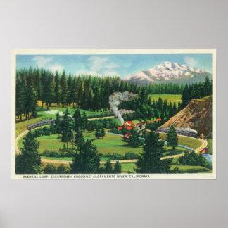 Lucht Uitzicht van de Cantara Lijn, Sacramento Poster