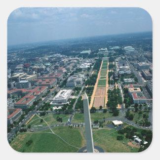 Lucht uitzicht van de Nationale Wandelgalerij Vierkante Sticker