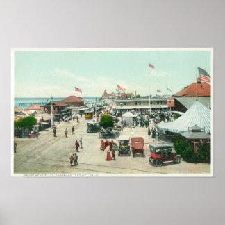 Lucht Uitzicht van de Stad van de Tent en het Plei Poster