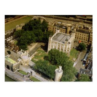 Lucht uitzicht van de Toren van Londen, Engeland, Briefkaart