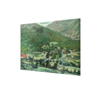 Lucht Uitzicht van de Vallei van Sacramento Canvas Prints
