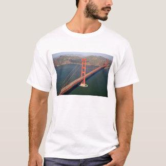 Lucht uitzicht van Golden gate bridge in 2 T Shirt