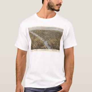 Lucht Uitzicht van Grand Rapids, Michigan (1868) T Shirt