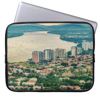Lucht Uitzicht van Guayaquil Outskirt van Computer Sleeve