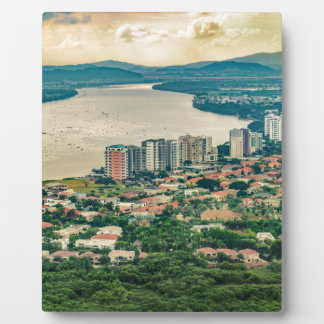 Lucht Uitzicht van Guayaquil Outskirt van Fotoplaat
