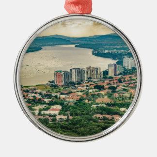 Lucht Uitzicht van Guayaquil Outskirt van Zilverkleurig Rond Ornament